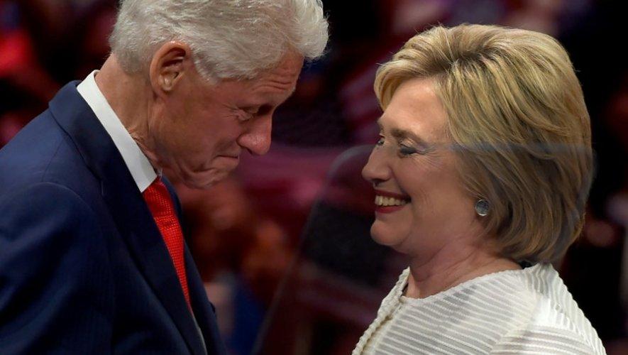 Hillary Clinton et son mari Bill à New York le 7 juin 2016
