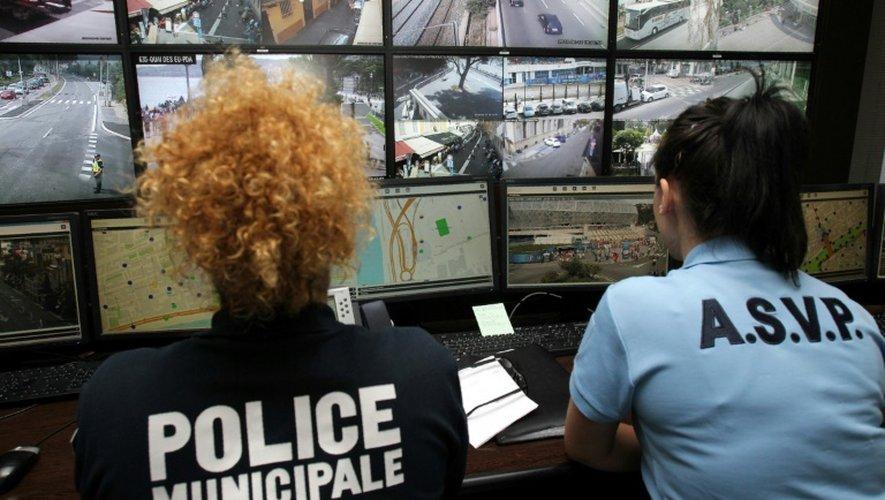 Le centre de supervision urbain (CSU) le 12 juillet 2016 à Nice