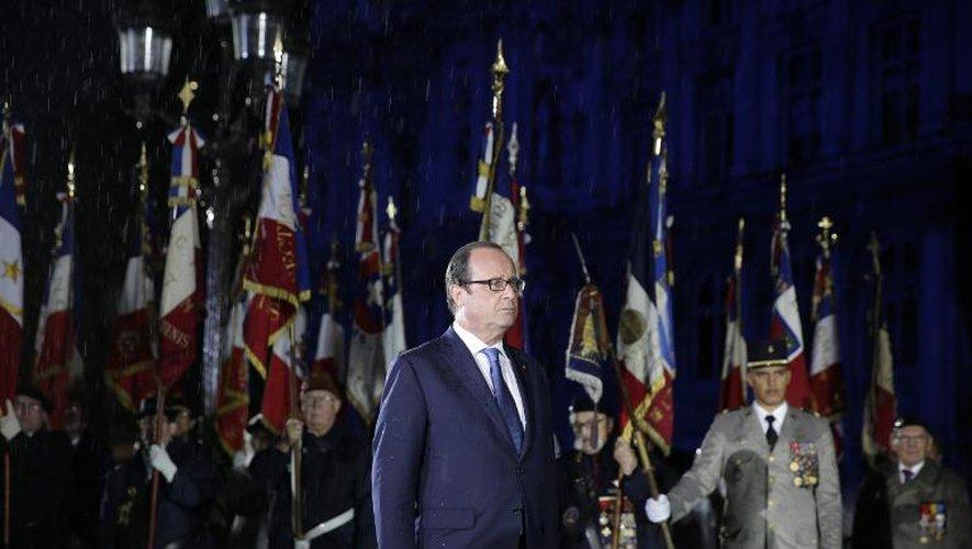François Hollande lors de la célébration du 70e anniversaire de la Libération, le 25 août 2014 dans la soirée à Paris