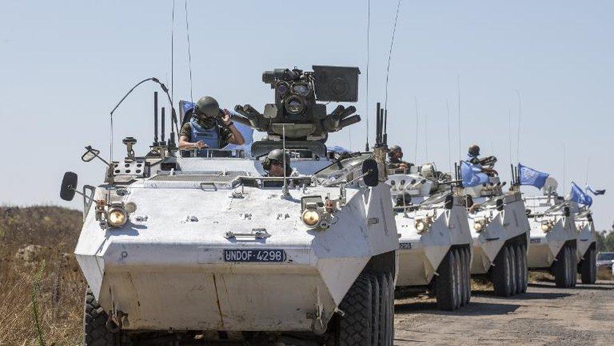 Un convoi de l'ONU sur le plateau du Golan, le 28 août 2014