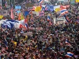Thaïlande: 100.000 manifestants anti-gouvernement à Bangkok