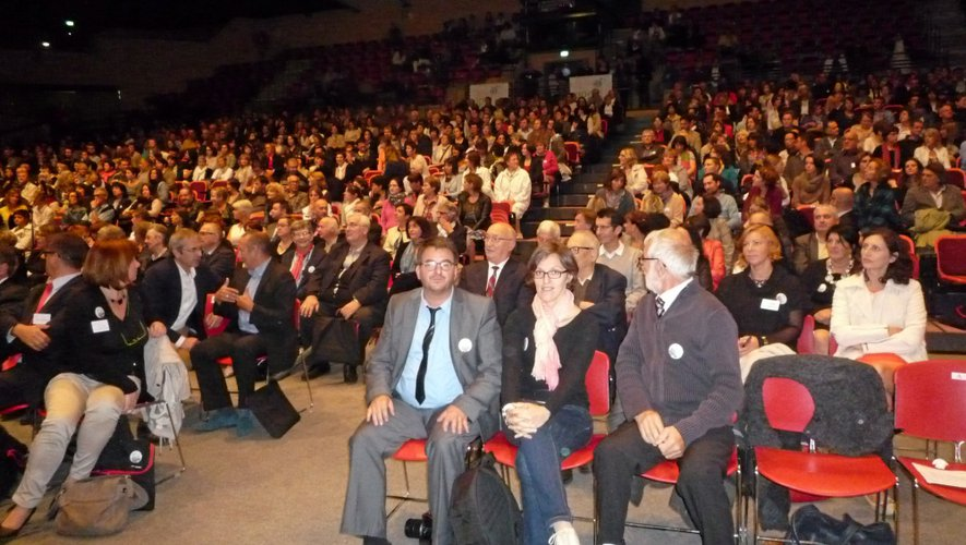 Près d'un millier de représentants de l'enseignement catholique aveyronnais étaient réunis, samedi, à l'Amphithéâtre de Rodez.