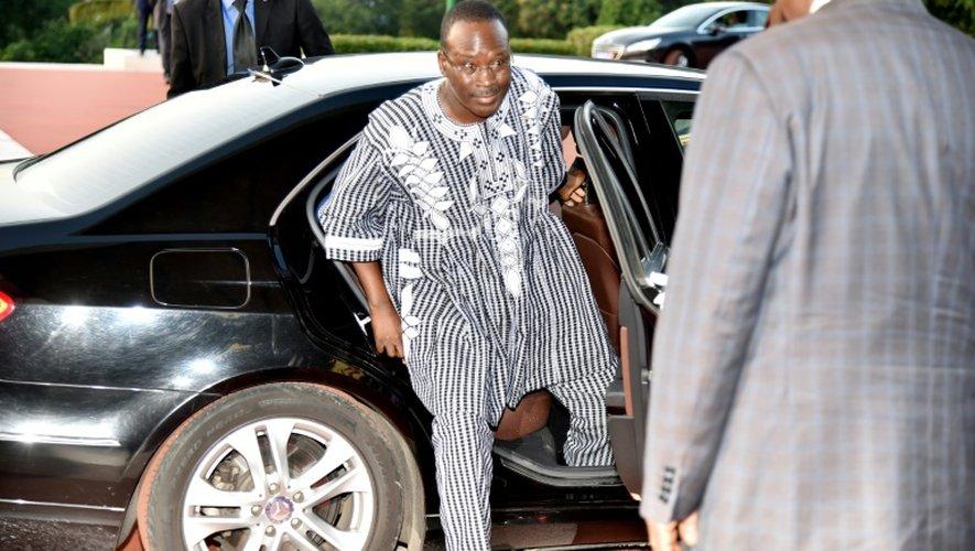Le Premier ministre burkinabé  Isaac Zida à son arrivée le 6 juillet 2015 à Abidjan