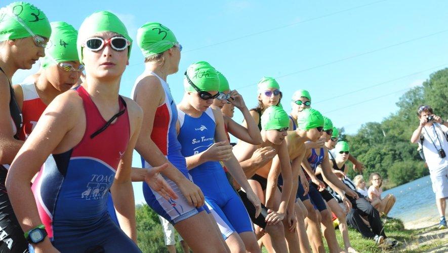 Dans les trois disciplines, juniors et séniors se sont lancés dans la bataille aujourd'hui pour le 4e triathlon du Ségala.