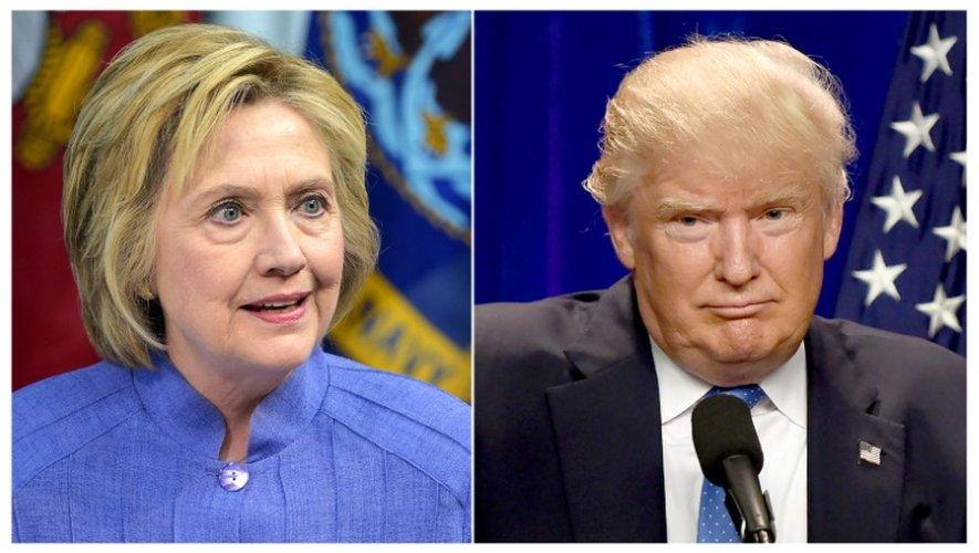 Un photomontage de photos de la candidate démocrate à la Maison Blanche Hillary Clinton, le 15 juillet 2016, et de son rival républicain Donald Trump, le 13 juin 2016