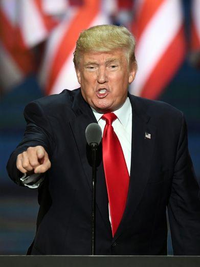 Donald Trump lors d'un meeting à Cleveland (Ohio),  le 21 juillet 2016