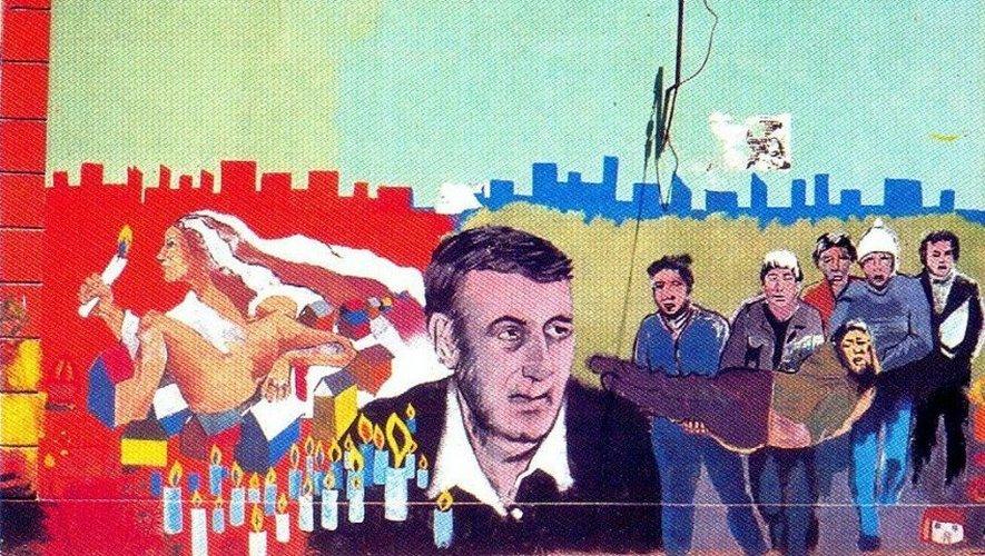 Encore aujoud'hui au Chili, de nombreuses peintures murales rendent hommage au prêtre aveyronnais.