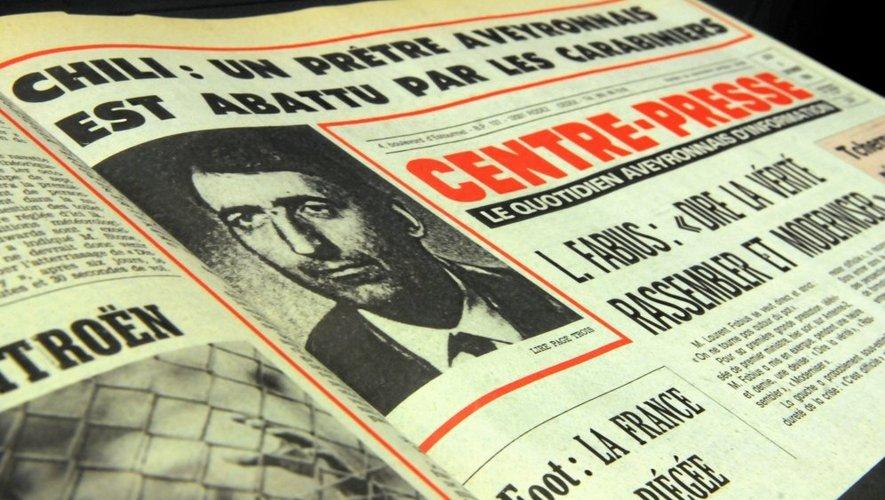 La Une de Centre Presse datée du 6 septembre 1984.