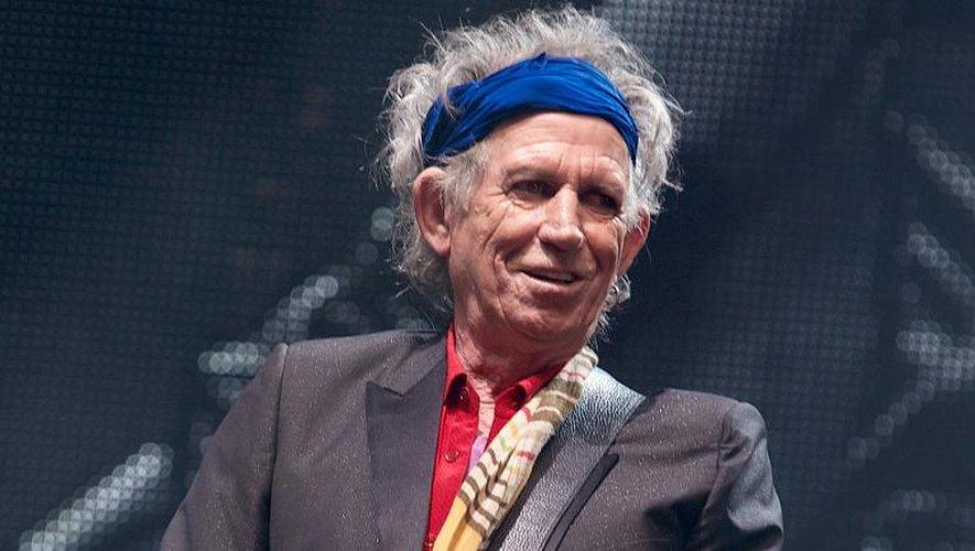 Keith Richards, guitariste et cofondateur des Rolling Stones, en concert le 29 juin 2013