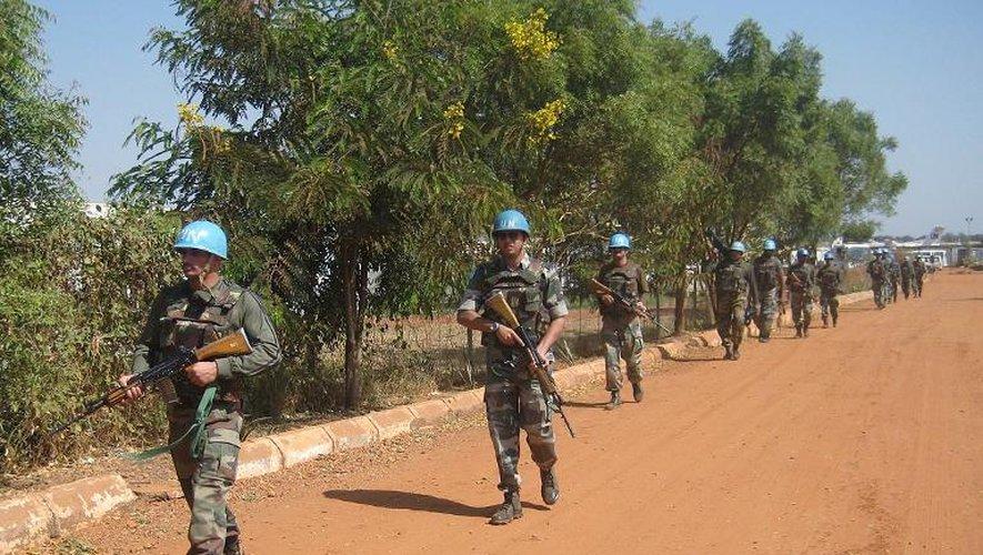 Des soldats indiens de l'Onu le 16 décembre 2013 à Juba