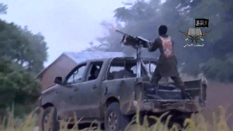 Photo tirée d'une vidéo réalisée par Boko Haram, le 24 août 2014, montrant des membres du groupe islamiste armé dans un endroit non précisé