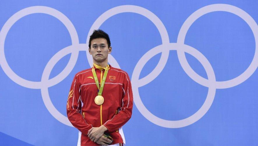 Le Chinois Sun Yang, champion olympique sur 200 m nage libre, la 8 août 2016 à Rio