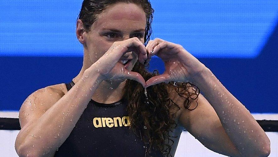 La Hongroise Katinka Hosszu, victorieuse du 100 m dos aux JO de Rio, le 8 août 2016