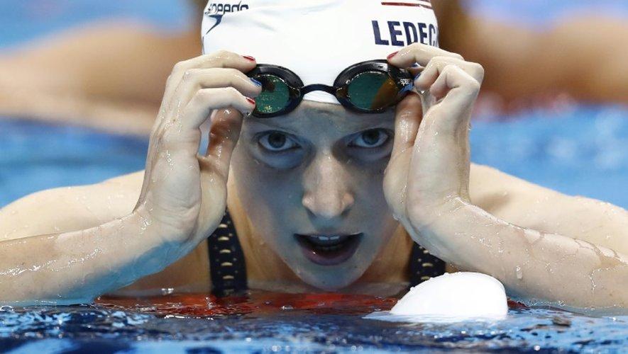 L'Américain Katie Ledecky lors des séries du 200 m nage libre le 8 août 2016 à Rio