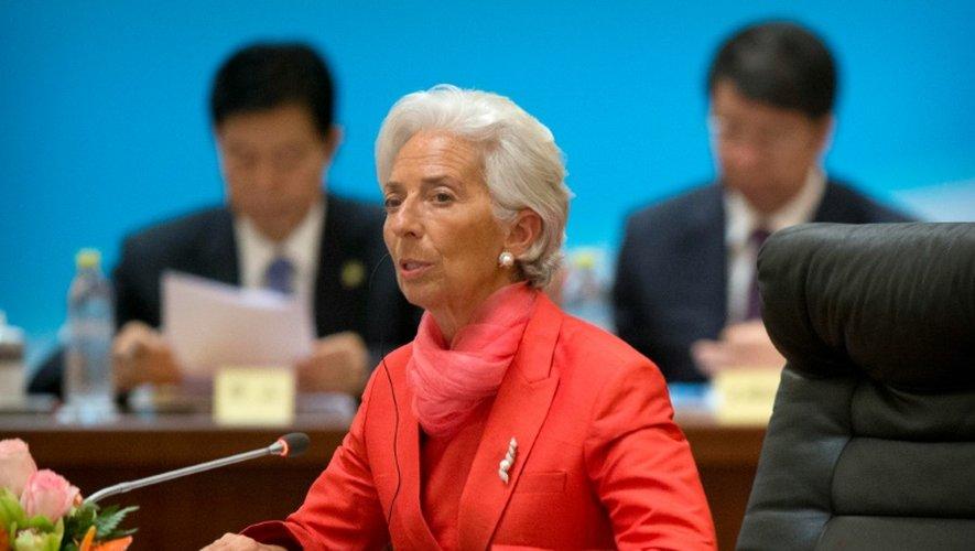 La directrice générale du Fonds monétaire international (FMI) Christine Lagarde à Pékin, le 22 juillet 2016