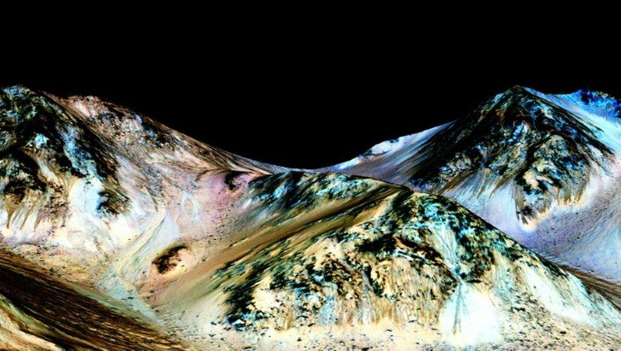 Une image fournie par la NASA le 27 septembre 2015, montre la surface de Mars