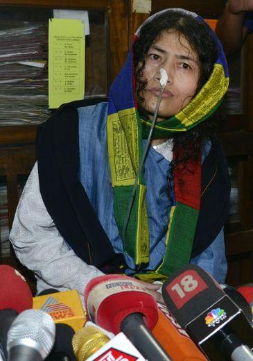 La militante indienne des droits de l'Homme, Irom Sharmila, le 9 août 2016 à Imphal en Inde