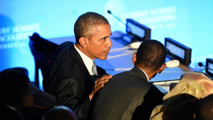 Le président Barack Obama le 28 septembre 2015 à l'Onu à New York