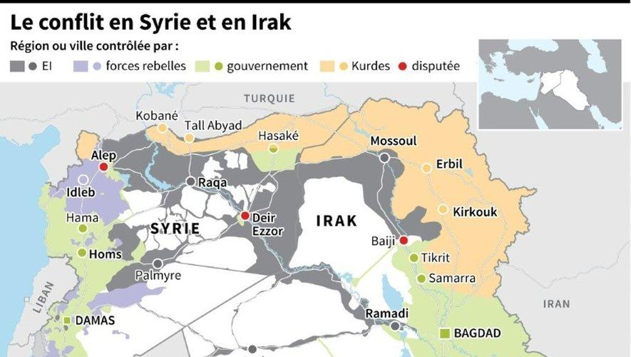 Le conflit en Syrie et en Irak