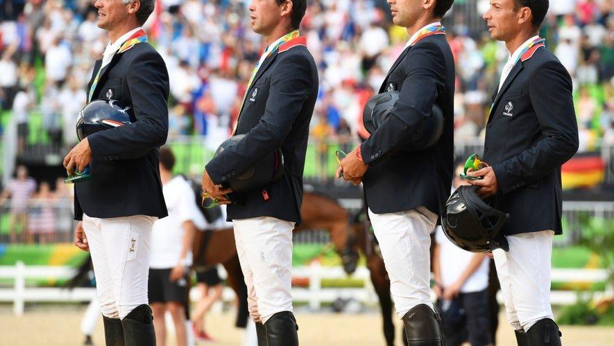 Médaillée mardi à Rio, l'équipe de France d'équitation connait très bien le complexe de Combelles.