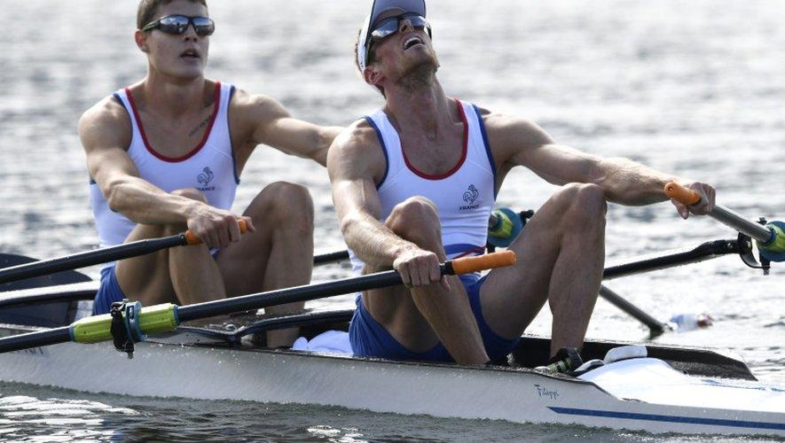 Le duo Jérémie Azou-Pierre Houin, aux jeux Olympiques de Rio, le 11 août 2016