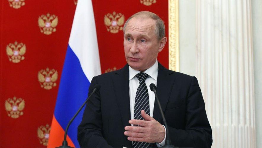 Vladimir Poutine à Moscou, le 10 août 2016