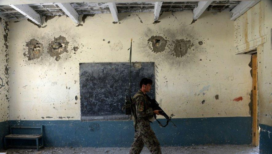 Un soldar afghan dans la province de Nangarhar, dans l'est de l'Afghanistan, le 1er août 2016