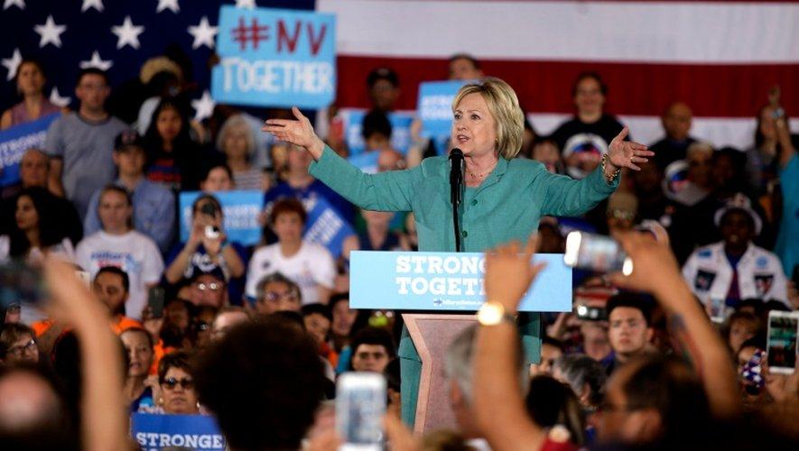La candidate démocrate Hillary Clinton s'adresse à ses partisans, lors d'une réunion de campagne, à  Las Vegas, le 4 août 2016