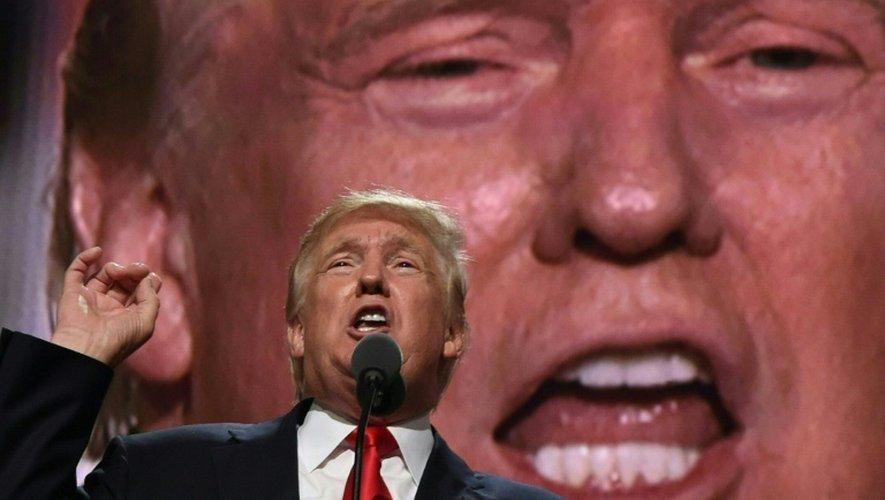 Le candidat républicain Donald Trump lors de son discours à la convention républicaine le 21 juillet 2016, à Cleveland