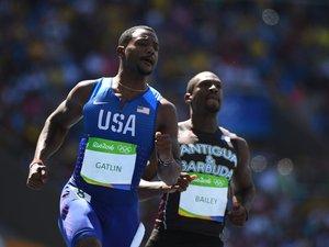 JO-2016/Athlétisme: Gatlin se qualifie facilement pour les demies du 100 m