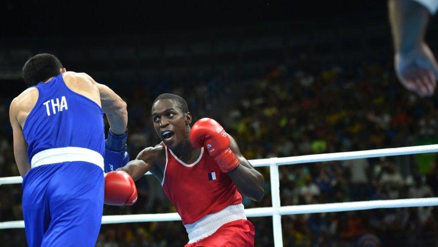 Souleymane Cissokho a dominé le Thailandais Saylom Ardee en quarts de finale chez les Welters aux JO de Rio, le 13 août 2016