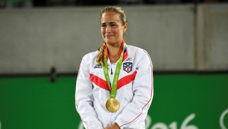 La Portoricaine Monica Puig sacrée championne olympique de Tennis à Rio, le 13 août 2016