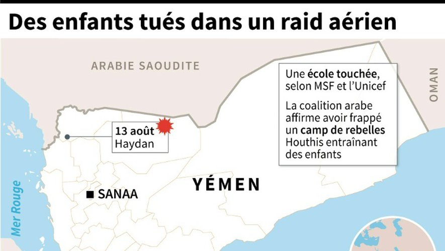 Yémen: dix enfants tués dans des raids aériens