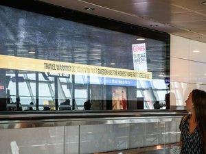 """""""La Suède pays du viol"""", proclame un bandeau à l'aéroport d'Istanbul"""