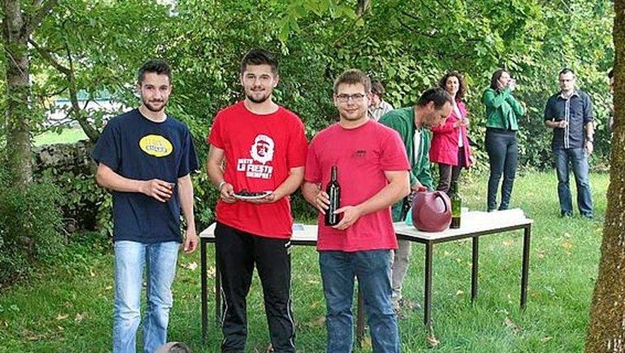 Les trois étudiants en BTS à l'origine du projet.
