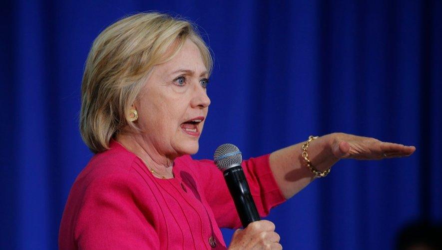 Hillary Clinton, le 16 août 2016 lors d'une réunion électorale à Philadelphie en Pennsylvanie