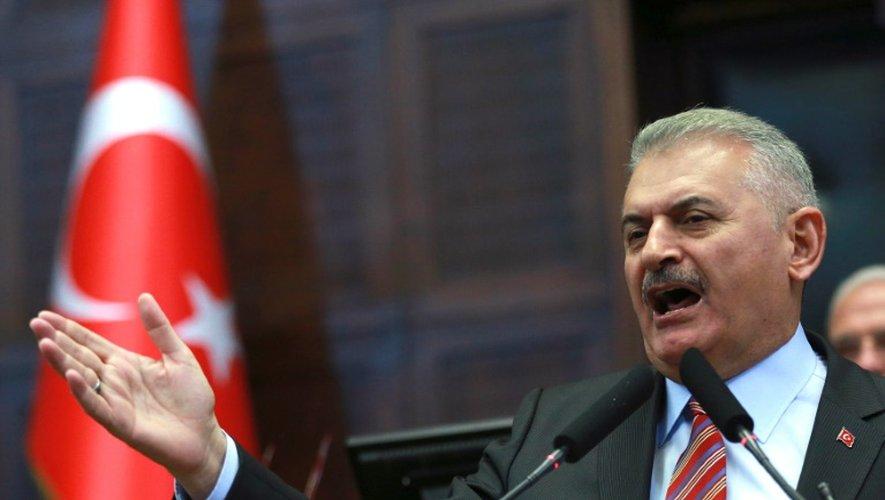 Le Premier ministre turc Binali Yildirim, lors d'une réunion politique à Ankara, le 16 août  2016