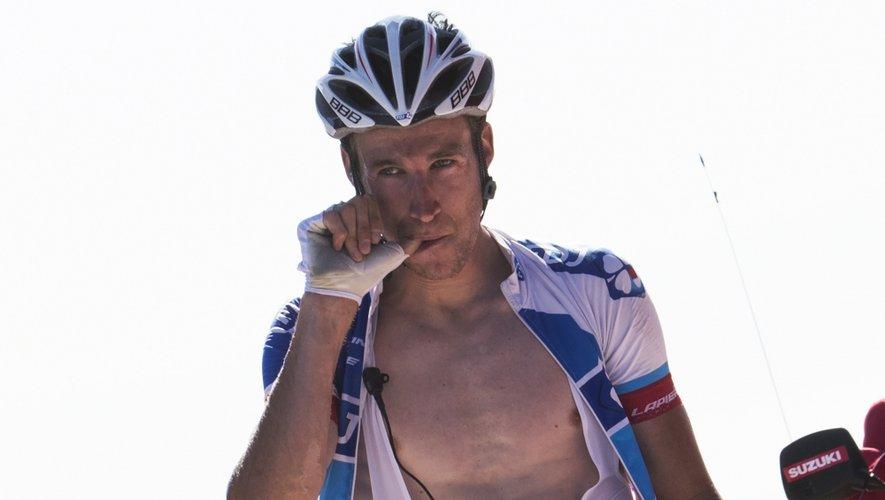 Lundi, victorieux, sur la ligne d'arrivée de la troisième étape de la Vuelta.