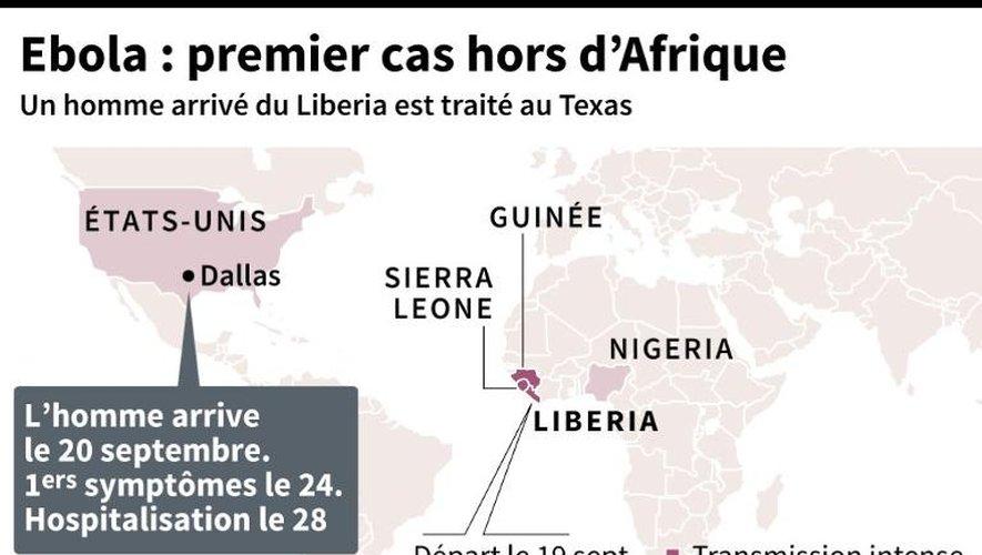 Ebola: premier cas hors d'Afrique