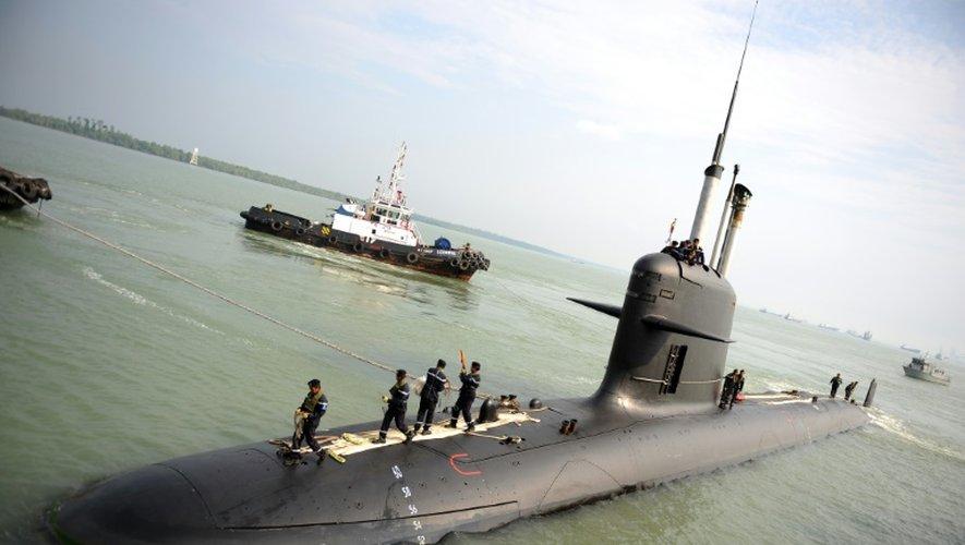 Un sous-marin Scorpène malaisien, à Port Klang, près de Kuala Lumpur, le 3 septembre 2009