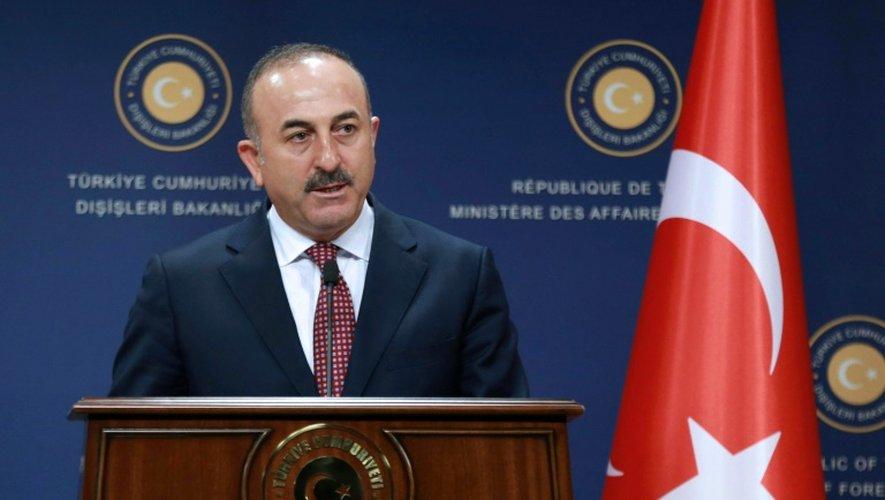 Le ministre des Affaires étrangères turc, Mevlut Cavusoglu, à Ankara le 12 août 2016