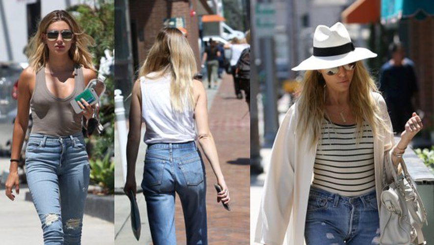 Avoir de belles fesses comme Kendall Jenner, Lily Aldridge ou Pixie Lott avec un jeans taille haute