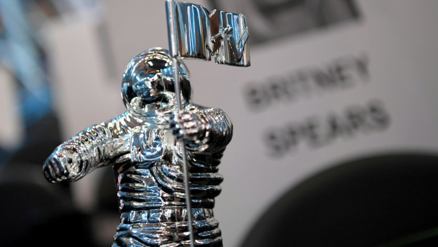 Un trophée des MTV Music Video Awards à New York, le 25 août 2016