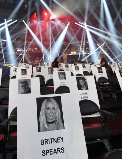 """Le """"plan de table"""" des MTV Music Video Awards, à New York, le 25 août 2016"""