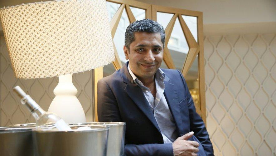 Sylvestre Wahid, dans le restaurant de l'Hôtel Thoumieux dont il est le chef et auquel il a donné son prénom, à Paris le 22 juin 2015