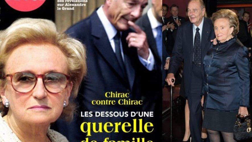 Le couple Chirac à la une de Point de Vue et à Paris fin 2013