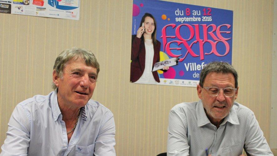 Daniel Bessou, membre du comité foire et président local de la plateforme Initiative Aveyron et Alain Marsan, responsable des relations extérieures.