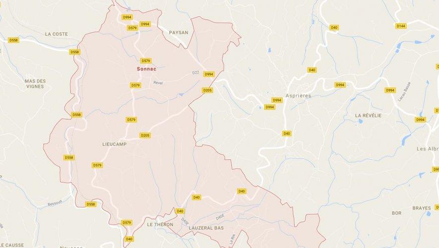 L'incendie s'est déclaré dans une exploitation de Peyremale haute, au sud de la commune de Sonnac.