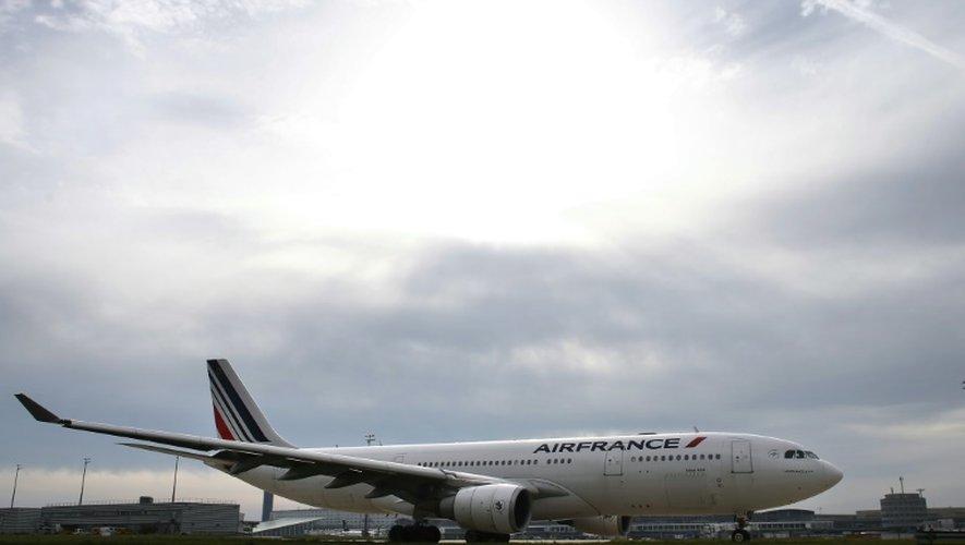 Un appareil de la compagnie Air France, le 12 octobre 2015 à l'aéroport de Roissy