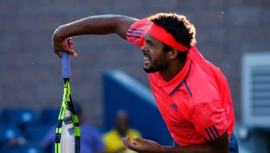 Jo-Wilfried Tsonga lors du match contre Guido Andreozzi à l'US Open le 29 août 2016 à New York